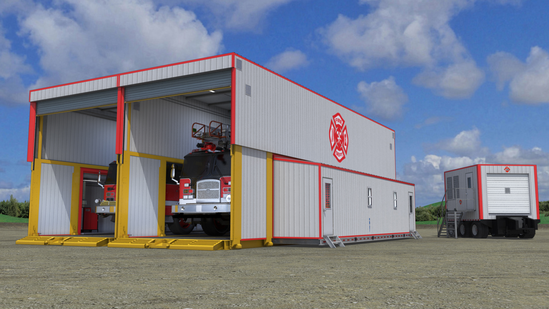 extreme portable buildings trans4mer mobile fire station thumbnail