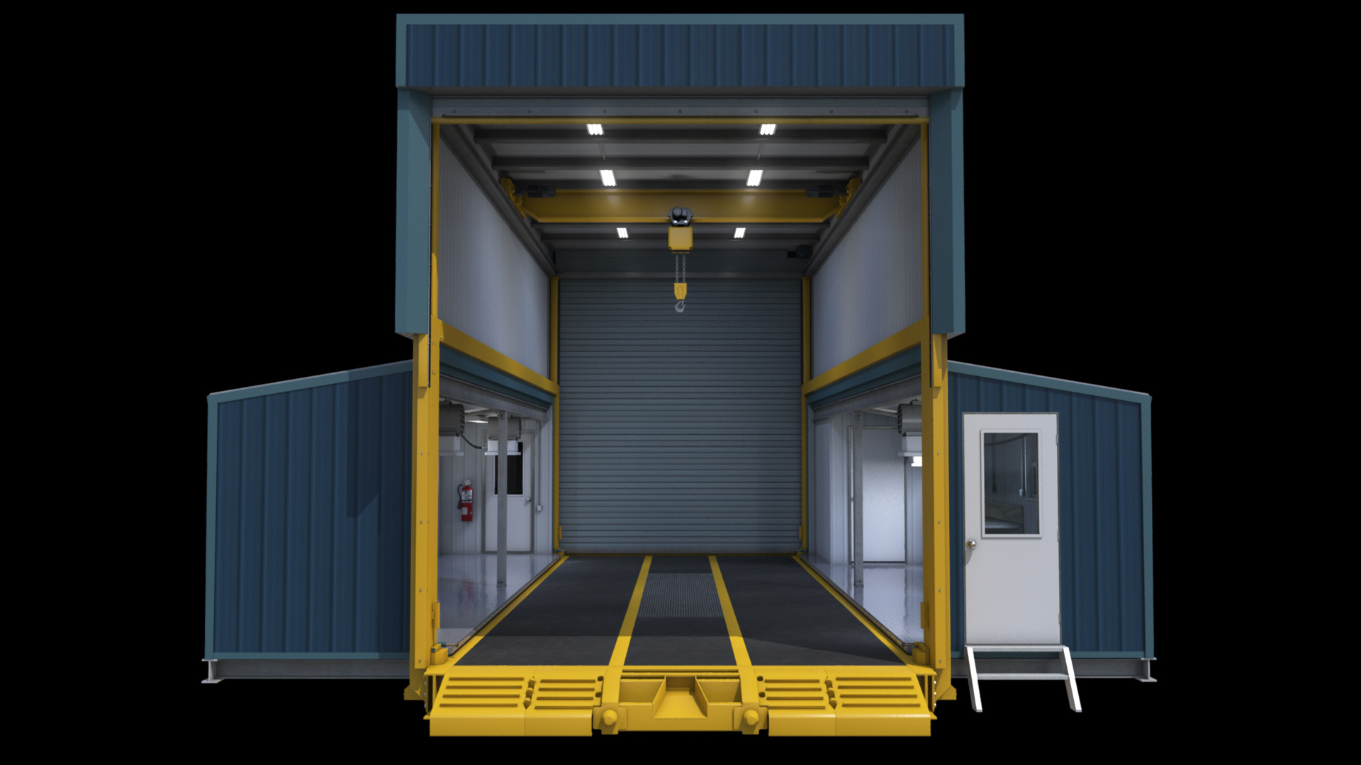 extreme portable buildings trans4mer main structure main door open thumbnail