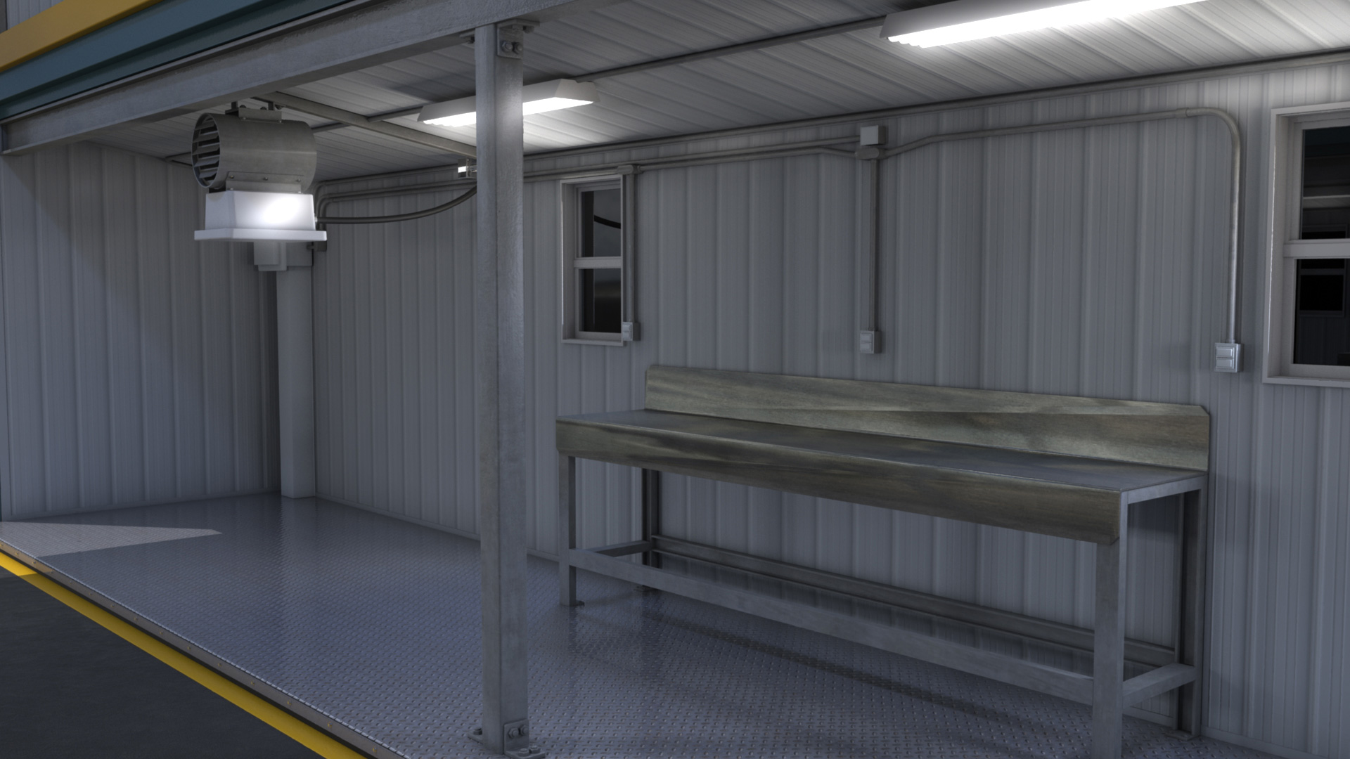 extreme portable buildings trans4mer main structure left interior thumbnail