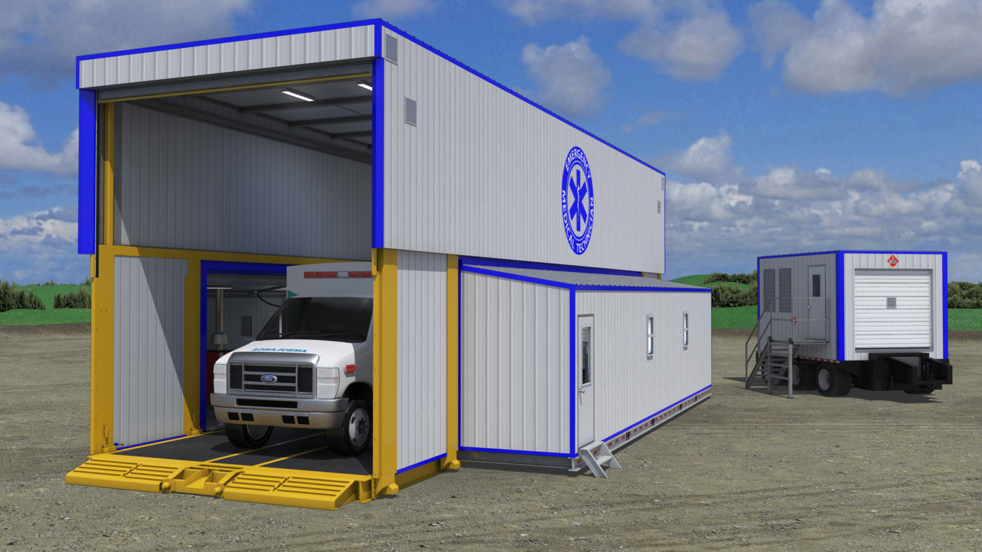 extreme portable buildings trans4mer mobile ambulance bay thumbnail