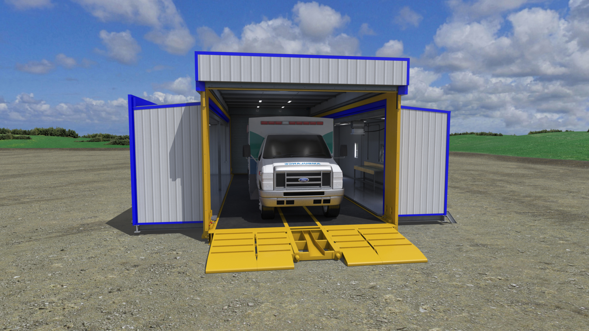 extreme portable buildings trans4mer mobile EMS bay thumbnail
