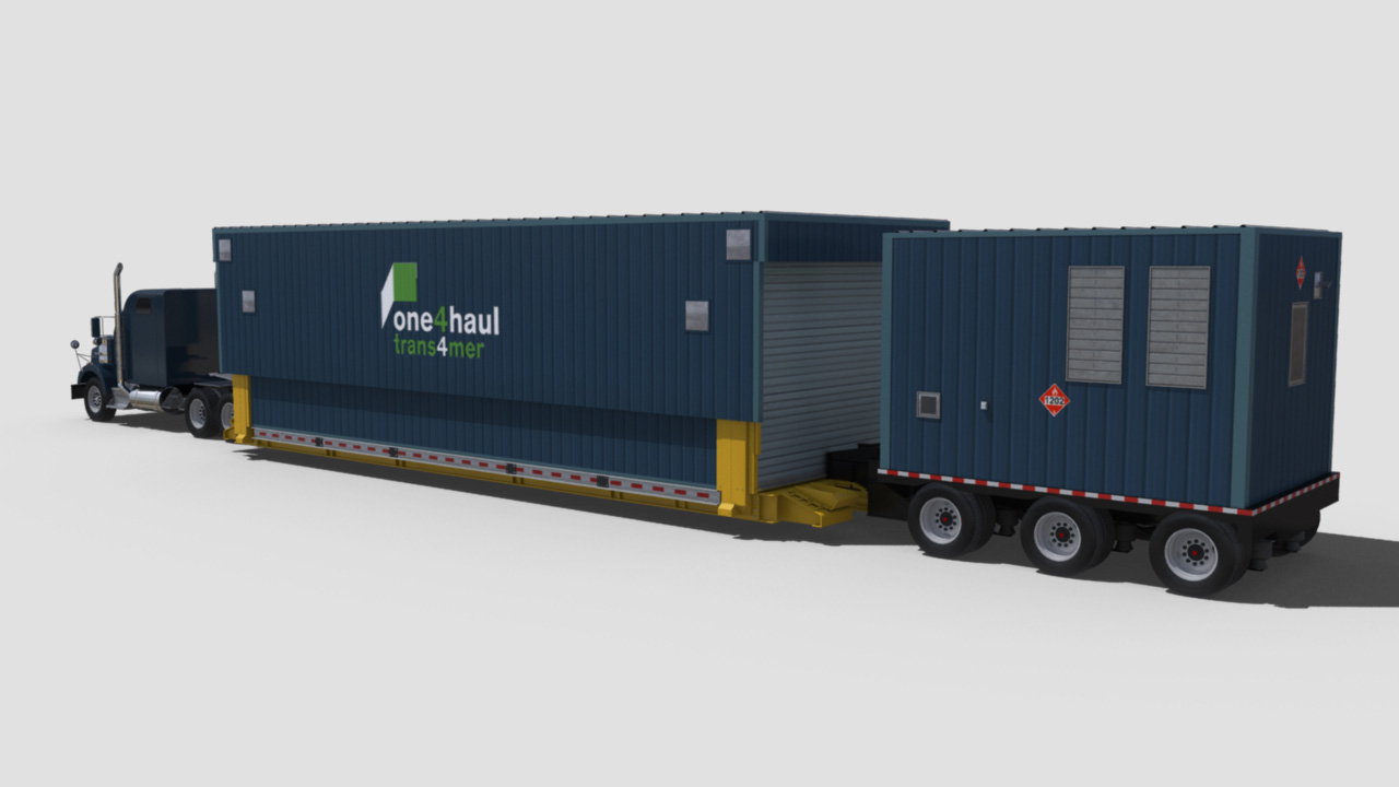 extreme portable buildings trans4mer transport mode rear left rendering