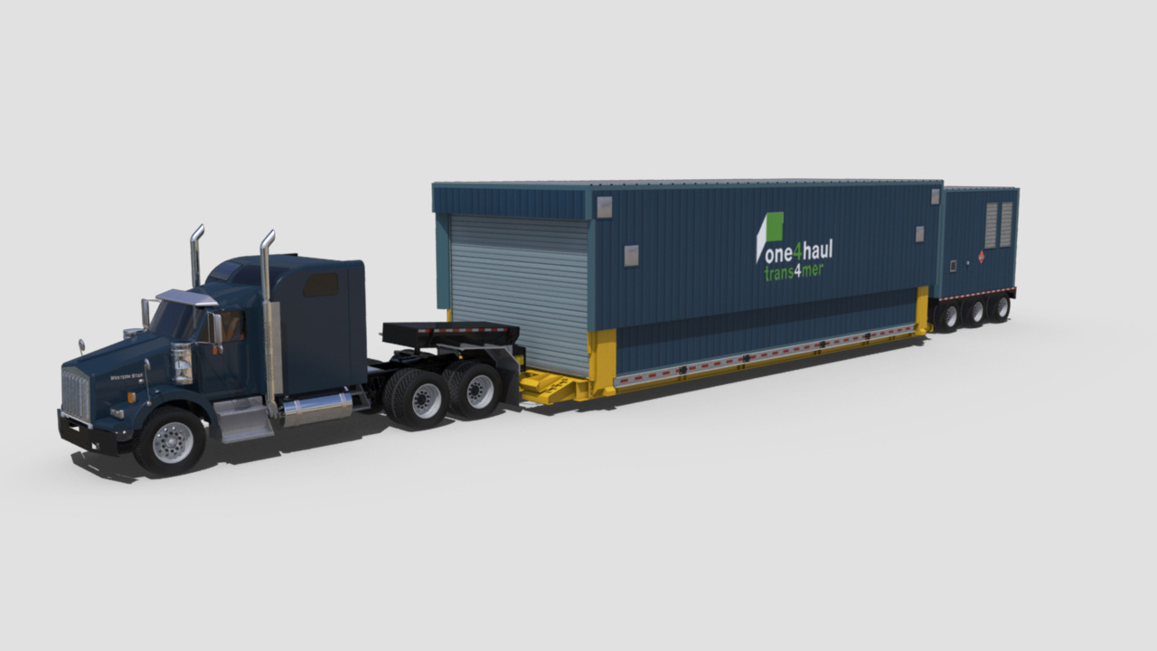 extreme portable buildings trans4mer transport mode front left thumbnail