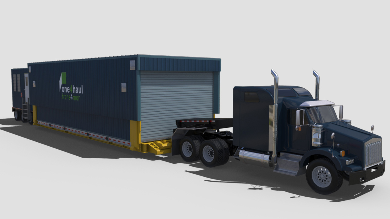 extreme portable buildings trans4mer transport mode front right thumbnail